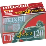 Maxell UR-120 Blank Audio Cassette Tape - 4 pack : 108045