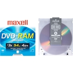 Maxell 1-pack DVD-RAM Media 9.4GB Rewrite