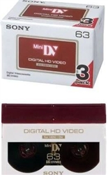 Sony DVM 63HD - Mini DV tape - 63min 3PK