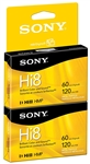 Sony P6-120HMPL/2C 120 Minutes Hi 8mm Video Cassette (1 Pack)
