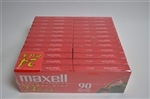 Maxell UR 90-Minute Audio Cassette Tape 24 pack