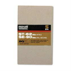 Maxell ST-62BQ Broadcast-Quality Certified SVHS Videotape Cassette