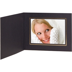 Tap Photo Folder Frame Buckeye Ebony/Gold 7x5 - 25 Pack: 102493R25