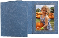 TAP Photo Folder Frame Capri Blue/Gold 5x7 - 25 pack #102576R25