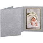 TAP Photo Folder Frame Dynasty Gray/Gold 4x6 - 25 Pack #102611R25