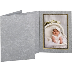 TAP Photo Folder Frame Dynasty Gray/Gold 5x7 - 25 Pack #102612R25