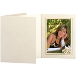 TAP Photo Folder Frame Opal Ivory/Gold 5x7 - 25 pack #102853R25