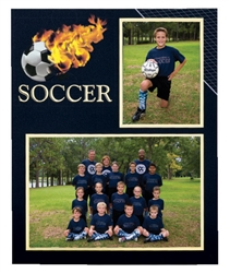 TAP soccer player/team 7x5 & 3x5 memory mates photo frame - Pack of 10: 103183100