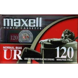 MAXELL UR-120 Blank Audio Cassette Tape - 1 pack : 108010
