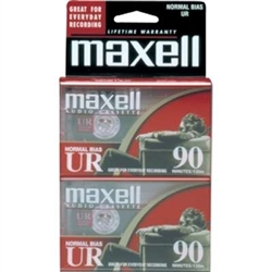 Maxell Normal Bias UR 90-Minute Audio Cassette Tape 2 Pack