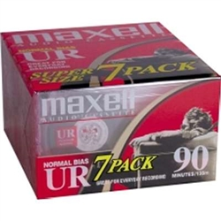 Maxell Normal Bias UR 90-Minute Audio Cassette Tape 7 Pack