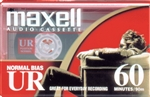 MAXELL UR-60 Blank 60-minute Audio Cassette Tape 109010