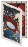 Tap Santa Sleigh Photo Folder (single) 4x6: 149587500