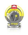 Maxell Wrap'd Yellow/Gray bud and storage w/Mic   WRP-YG