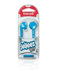 Maxell Jelleez Soft Ear Buds Blue with MIC  JELM-BL