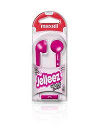 Maxell Jelleez Soft Ear Buds Pink with MIC  JELM-PK