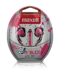 Maxell Color Buds w/MIC - Pink    CBM-P
