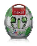 Maxell Color Buds w/MIC - Green   CBM-G