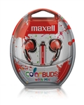 Maxell Color Buds w/MIC - Red   CBM-R