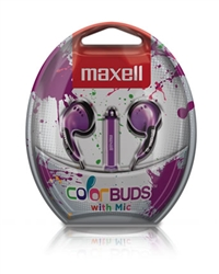 Maxell Color Buds w/MIC - Purple   CBM-PU