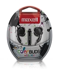 Maxell Color Buds w/MIC - Black   CBM-BLK