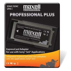 Maxell SDHC/SDXC UHS-I Expresscard Adapter For Use With SONY SxS Applications