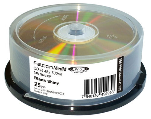 picture relating to Blank Printable Cds called Falcon Skilled Archival CD-R Gold EP 80 Second 700mb, 48X-25 Pack