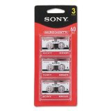 Sony MC-60 Microcassette 3PK
