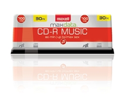 Maxell  CDR-80 MUSIC GOLD 30PK SPIN  CD-R (AUDIO ONLY)