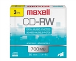 Maxell CD-RW 700 3Pk  700MB CD-REWRITEABLE