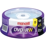 Maxell DVD+RW 4.7GB 4x Rewritable, Recordable Disc (Spindle Pack of 15)