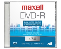 Maxell DVD-R TAB  4.7GB DVD-R 10mm Jewelcase