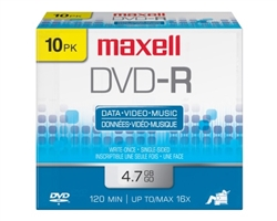 Maxell DVD-R 10PK  4.7GB DVD-R 10mm Jewelcase