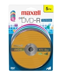 Maxell DVD-R COLOR 5PK CARD  DVD-R 4.7 GB CARD
