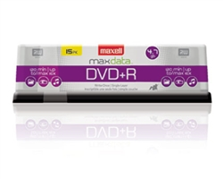 Maxell DVD+R 15PK SPN  4.7GB DVD+R Spindle