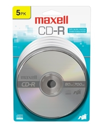 Maxell  CD-R 700 5PK CARDED  700MB CD-R
