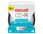 Maxell CD-R 700 10Pk Hanging Spindle  700MB CD-R