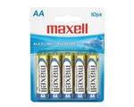 Maxell 723410 AA Alkaline Batteries, 10-Pack, disposable