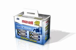 Maxell 723443 AA Alkaline Batteries 48 Pack