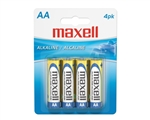 Maxell 723465 AA Alkaline Batteries 4-Pack