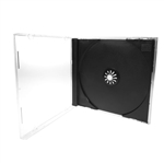 CD Jewel Case, Clear box with black tray CDJEWELC-14MM