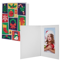 Holiday Motif Photo Folder Frame 4x6