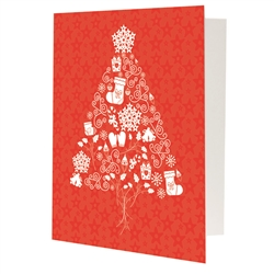 Holiday Tree Red Photo Folder Frame 4x6