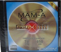 MAM-A 74m Gold CD-R Thermal in Jewel Case