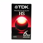 TDK T-160 High Standard VHS Tapes 3 pack