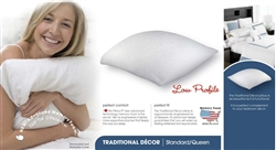 I Love My Pillow Standard Queen Memory Down Low Profile Supreme Pillow White