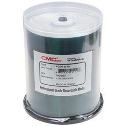 CMC Pro Taiyo Yuden (TCDR-ZZ-SB) 52X CD-R Silver Lacquer Media - 100 Pack