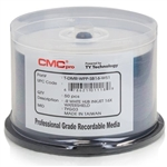 CMC Pro Taiyo Yuden (TDMR-WPP-SB16-WS) WaterShield 16X DVD-R White Inkjet Hub Printable Media - 50 Pack