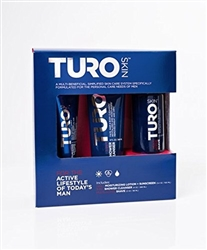 TURO SKIN Starter Kit (Multi-Active Shave, Daily Moisturizing Lotion + Sunscreen SPF 15, 3-in-1 Shower Cleanser) - UNISEX