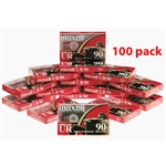 Maxell Normal Bias UR 90-Minute Audio Cassette Tape 100 pack